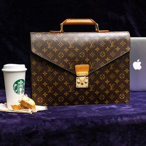 LOUIS VUITTON Briefcase Macbook